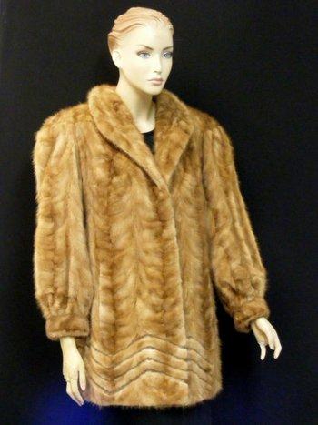 Women's Tan Mink Coat  L
