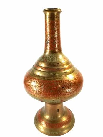 Vintage Etched Solid Brass Insence Burner