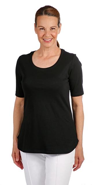 ISAAC MIZRAHI Ladies Essentials Double Insert Top, Black, L, Retail: $27