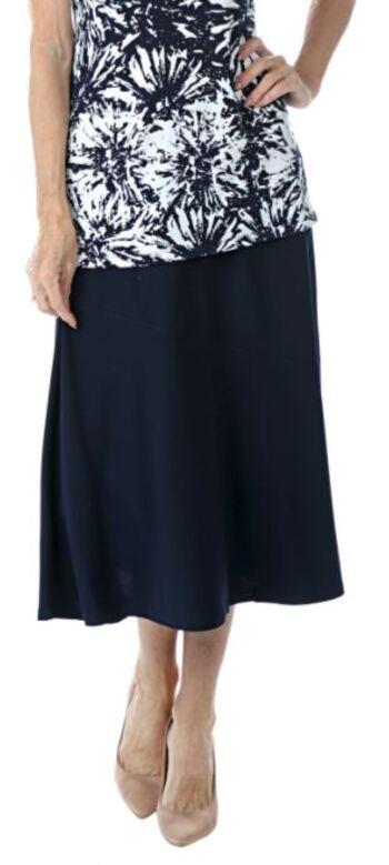 Nina Leonard Women's Skirt, Navy, Size S, Retail: $24.59