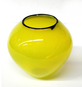 MURANO GLASS - One Of A Kind - Hand Blown and Painted Vase