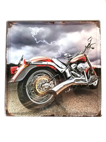 Custom Motorcycle Square Metal Sign