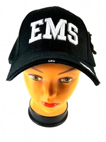 Embroidered Black EMS Emergency Medical Services Baseball Cap Hat