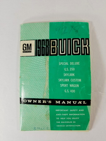 GM 1968 Owners Manual -