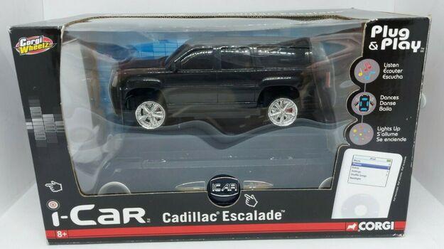 New Corgi Wheelz i-Car Black Cadillac Escalade Plug & Play iPod Speaker Dock