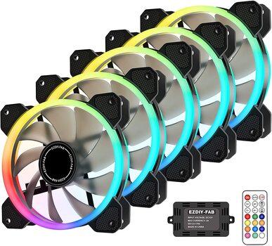 EZDIY-FAB Wireless RGB LED 120mm Case Fan
