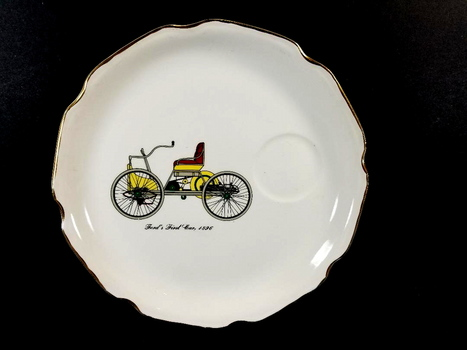 Vintage Salem China Company Antique Car Plate - Fords First Car 1896