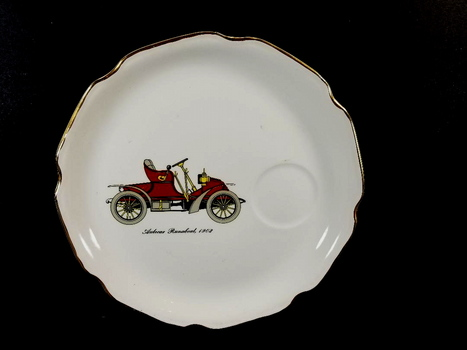 Vintage Salem China Company Antique Car Plate - Runabout 1910