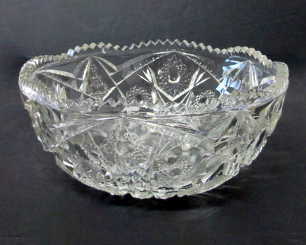 Vintage Small Pressed Glass Fruit Bowl