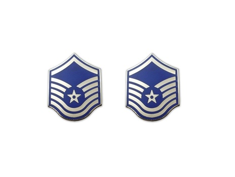 US Air Force Senior Master Sergeant Insignia Pin Pair - 2 Pcs