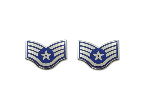 USAF US Air Force Staff Sergent Rank  Pin Pair - 2 Pcs