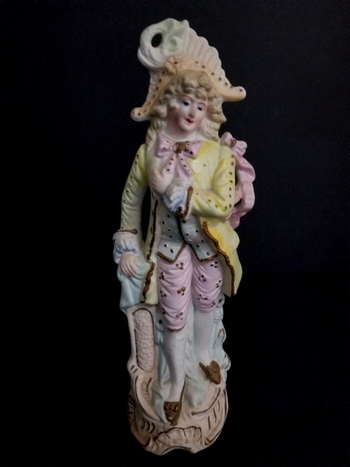 Antique Hand Painted Victorian German Bisque Figurine