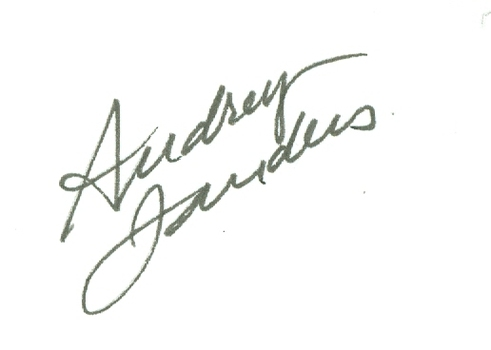 Audrey Landers American Actress Dallas Signed Autographed 3x5 Index Card w/coa $100 Retail