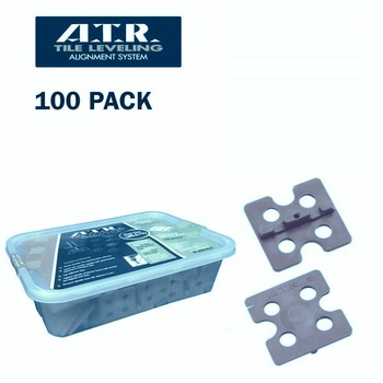ATR Tile Leveling System 2mm Edge Spacer - 100pcs (Wall & Floor)