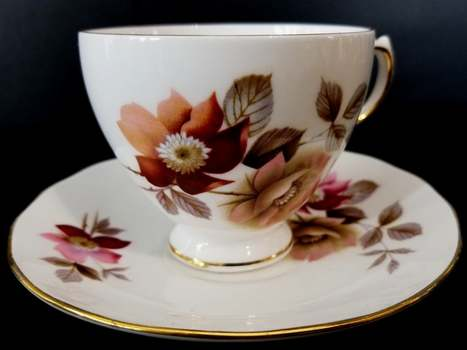 VTG Royal Vale Fine Bone China Tea Cup and Saucer