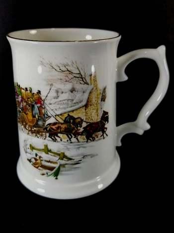 Vintage Royal Grafton Fine Bone China Hand Painted Beer Mug
