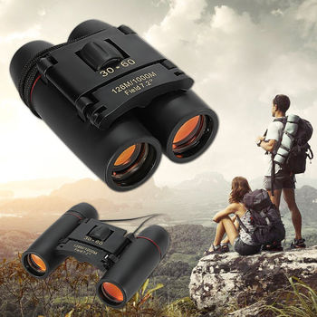 New Vision 30 x 60 Zoom Outdoor Travel Folding Binoculars Telescope+Case