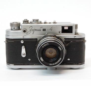 Vintage Russian 1970's Zorki 4 Rangefinder Camera