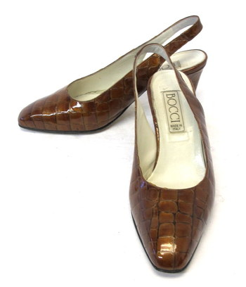 Bocci Women's Sling Back Leather Shoes- Size 9