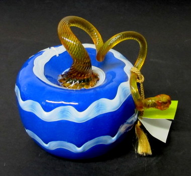 Kitras Art Glass Contemporary One of a Kind Pumpkin