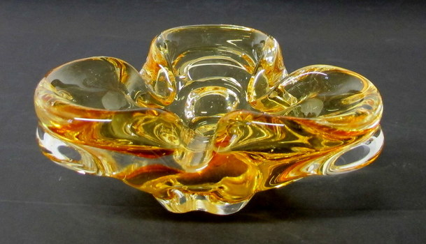 Vintage Chalet Glass Ashtray
