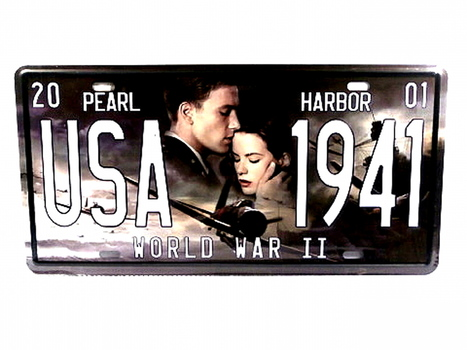 USA Pearl Harbor WWII Metal License Plate
