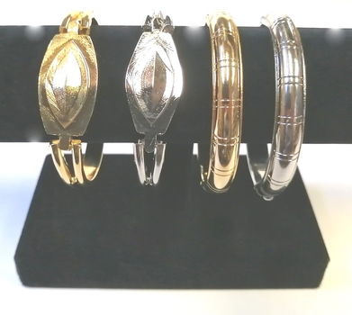 BANGLES - PLATED METAL BANGLES - 4 PIECES