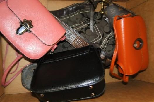 Unclaimed Box from Storage Locker - Handbags