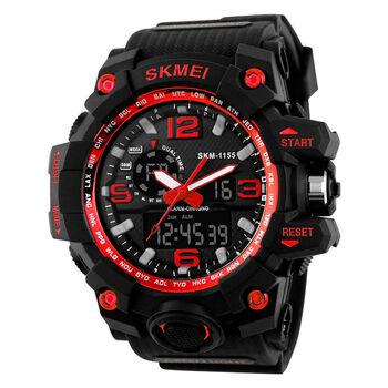 Wrist Watch for Man Waterproof Sport Big Face Military Army Digital Analog SKMEI SKM-1155 New