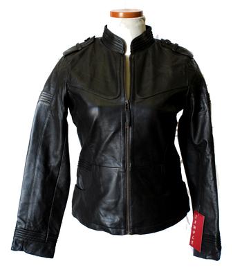 Women's Leather Jacket - Size S/M - Dark Brown