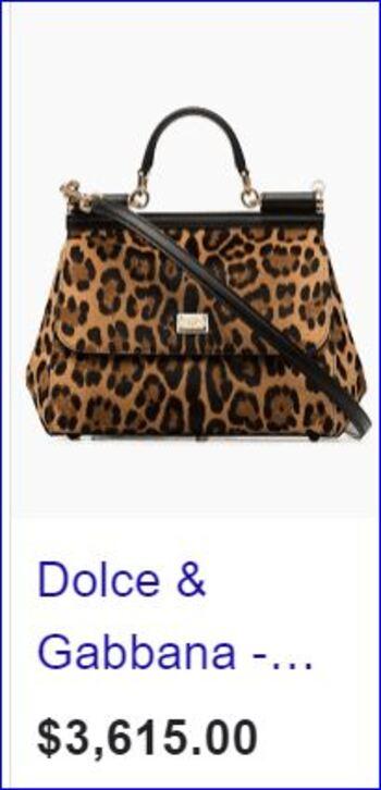 Dolce & Gabbana Shoulder Bag $3,600.00