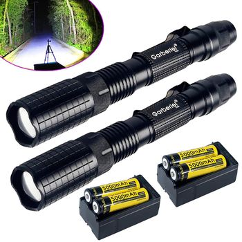 Tactical Police 20000Lumens T6 5Modes LED Flashlight Aluminum Torch Zoomable