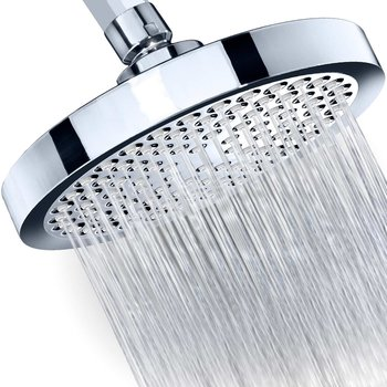 "Shower Head - Rainfall High Pressure 6"" - Rain High Flow Fixed Luxury Chrome Shower-head"