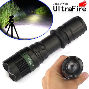 20000Lumens Zoomable T6 LED Flashlight Torch Tactical Light Aluminum - 3 Pcs