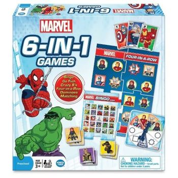 Marvel 6 in 1 Game Set - NEW