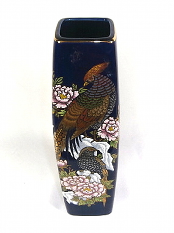 Hand Made And Painted Porcelain Japan Vase