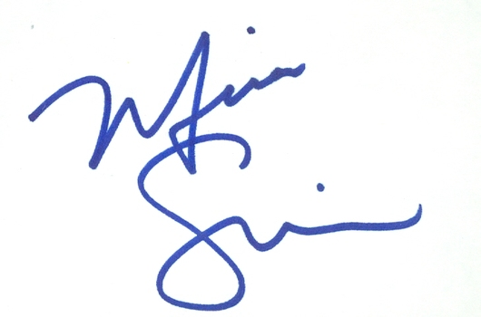 Mira Sorvino American Actress Mighty Aphrodite Signed Autographed 3x5 Index Card w/coa $100 Retail