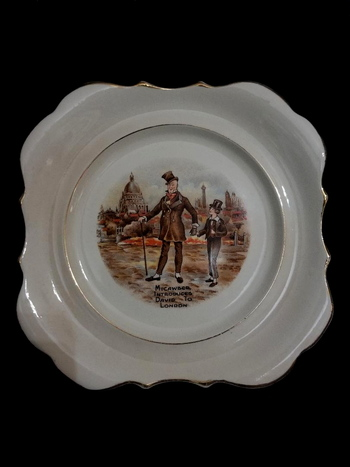 Antique England Hand Painted Decorative Plate