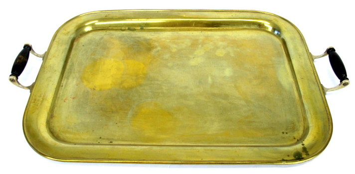 Vintage Solid Brass Serving Tray