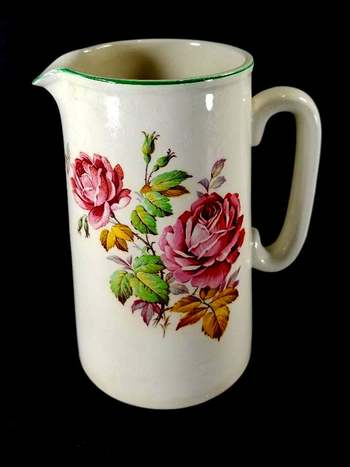 Vintage English Hand Painted Lord Nelson Porcelain Pitcher