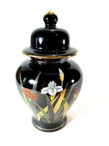 Vintage Hand Painted Otagiri Japan Porcelain Ginger Jar