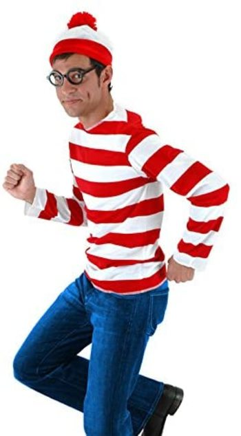 Elope Wheres Waldo? Adult Halloween Costume, Size S/M