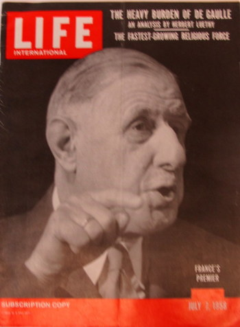 Rare Life Magazine, July 7/1958 Subscription Copy
