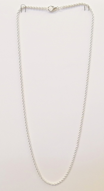24 INCHES SILVER PLATED ROPE CHAIN - 50 PIECES