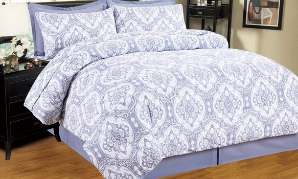 Kathy Ireland Bed in a Bag Set with Sheets (8-Piece), Size Full