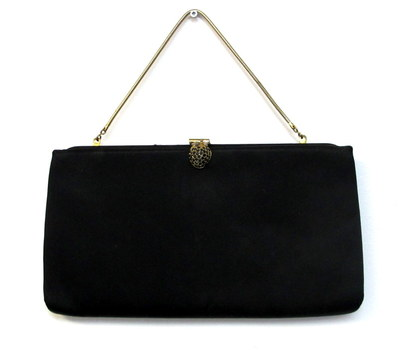 Vintage Harry Levine Clutch with Attached Change Purse - Circa 1950's