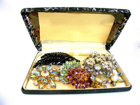 Vintage Rhinestone Jewelry Lot
