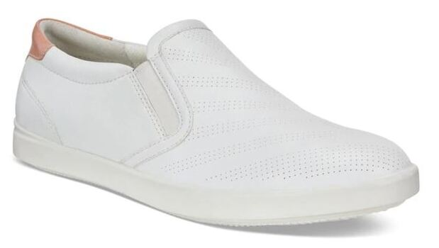 Ecco Women's Aimee Slip On Shoes, White/Muted Clay, Size 40, Retail: $135.00