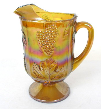 Vintage Carnival Glass Pitcher