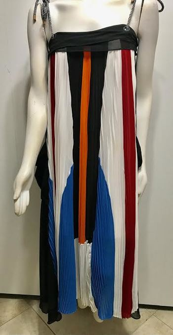 Paris Fashion  Multi Color  Dress  Size:L Retail $370